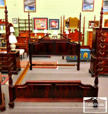 5960-301 Thomasville Mahogany King Poster Bed