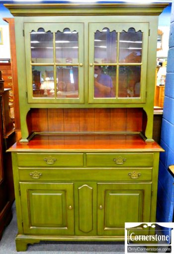 5960-315 Statton Cherry Green Painted Hutch