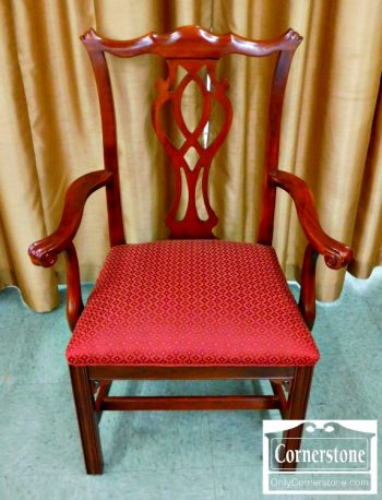 5960-336 8 Knob Creek Solid Cherry Chippendale Dining Room Chairs-1