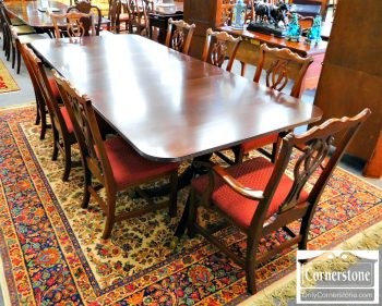 5960-336 8 Knob Creek Solid Cherry Chippendale Dining Room Chairs-2