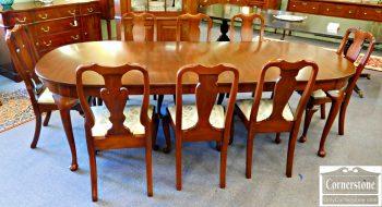 5960-348 Henkel Harris Solid Queen Anne Dining Set