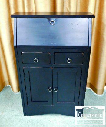 5960-371 Black Painted Secretary Desk