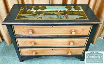 5960-391 Re-Painted Antique Chest