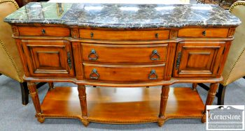 5960-392 Kincaid Cherry Marble Top Buffet or Sideboard