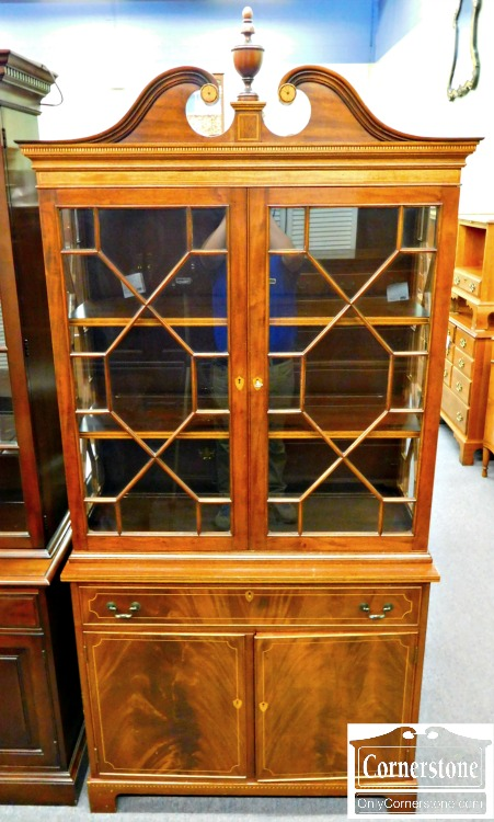 inlaid mahogany china cabinet 2