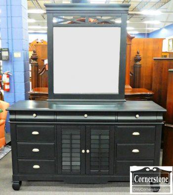 5960-509 American Signature Black Dresser with Mirror