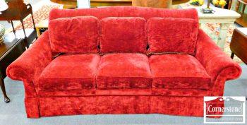 5960-513 Hancock & Moore Dark Red Upholstered Sofa