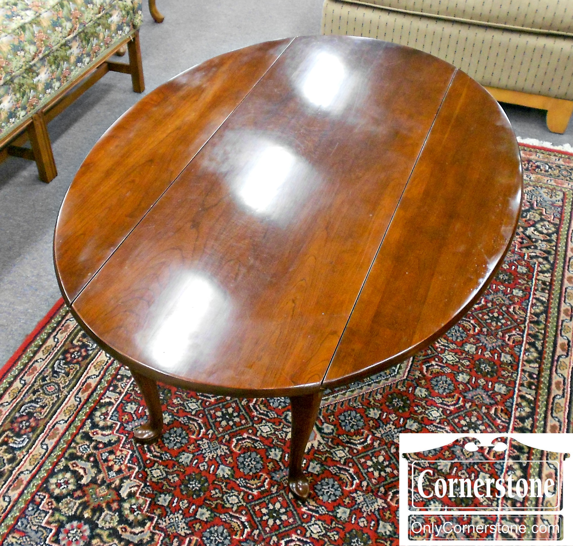 5960-53 Statton Cherry Drop Leaf Cocktail Table-2