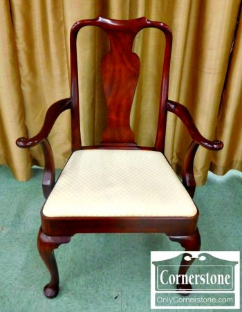 5960-536 Set of 6 Kittinger Solid Mahogany Queen Anne Dining Chairs