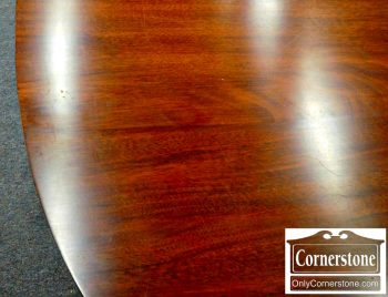 5960-551 Henkel Harris Solid Mahogany Hepplewhite Table with 2 Leaves in Finish #29-2