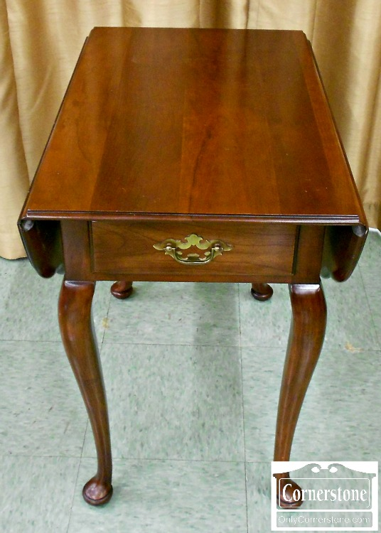 5960-56 Statton Solid Cherry Drop Leaf End Table in Oldtowne Finish