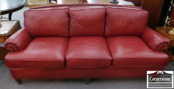 5960-566 Smith Brothers Leather Sofa