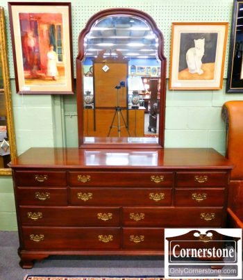 5960-574 Ethan Allen Solid Cherry Dresser with Mirror