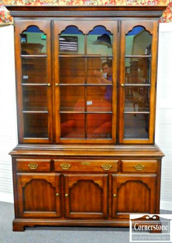5960-620 Statton Solid Cherry China Cabinet Oldtowne Finish