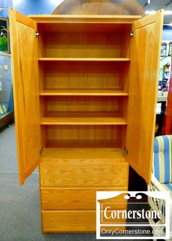 5960-621 Oak Wardrobe-2
