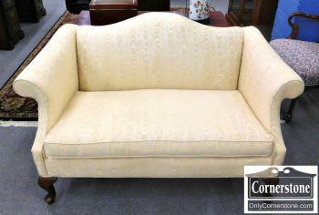 5960-625 Fairfield Upholstered Champagne Colored Settee