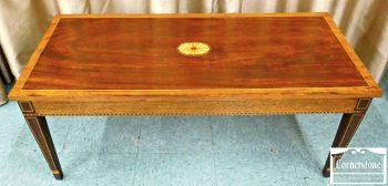 5960-629 Potthast Inlaid Mahogany Hepplewhite Coffee Table