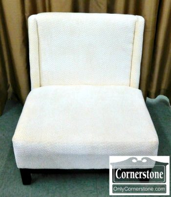 5960-669 White Upholstered Occasional Chair