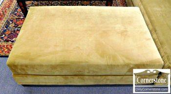 5960-673 Large Olive Color Upholstered Ottoman