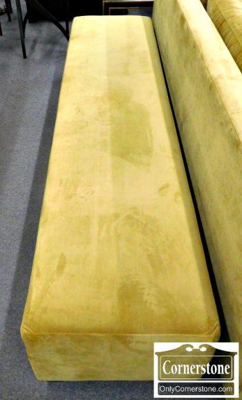 5960-674 Long Olive Color Upholstered Ottoman