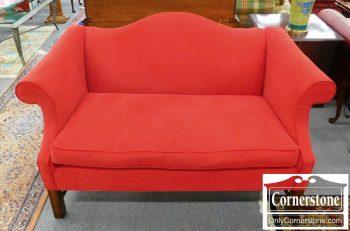5960-686 Fairfield Red Upholstered Settee