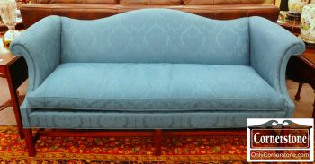 5960-693 Hickory Chair Upholstered Camelback Sofa