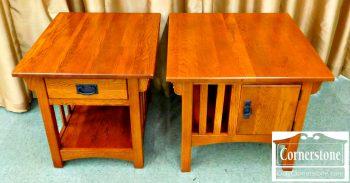 5960-712 Pair of Oak End Tables
