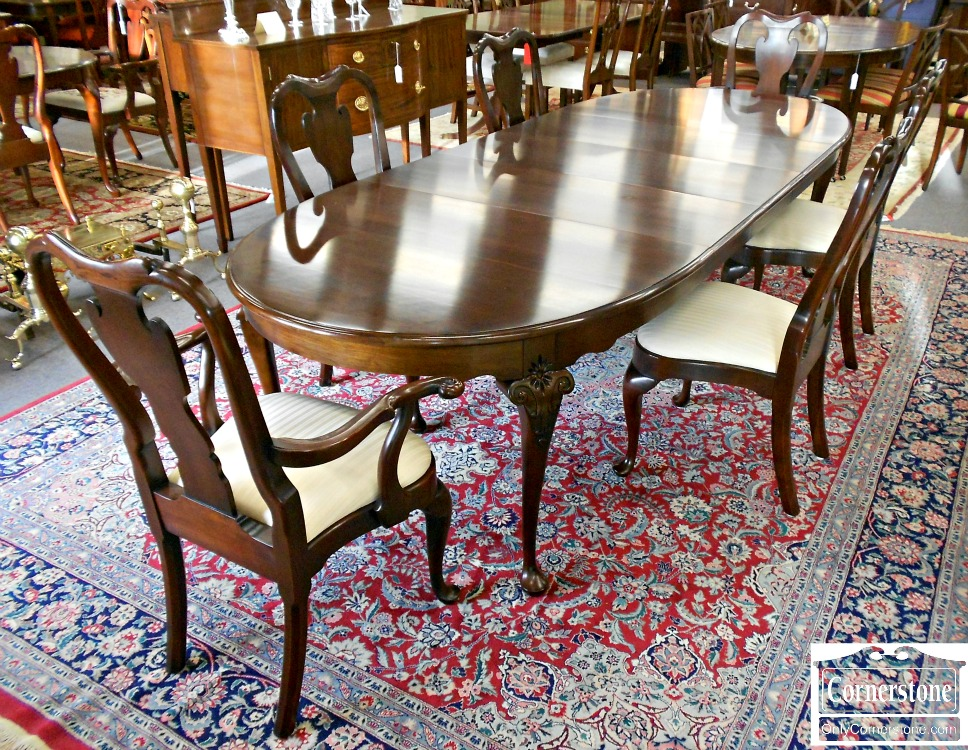 5960-73 Statton Solid Cherry Dining Set Table & 6 Chairs in Oldtowne Finish