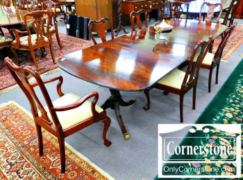 Set of 6 Mahogany Ball & Claw Foot Dining Chairs