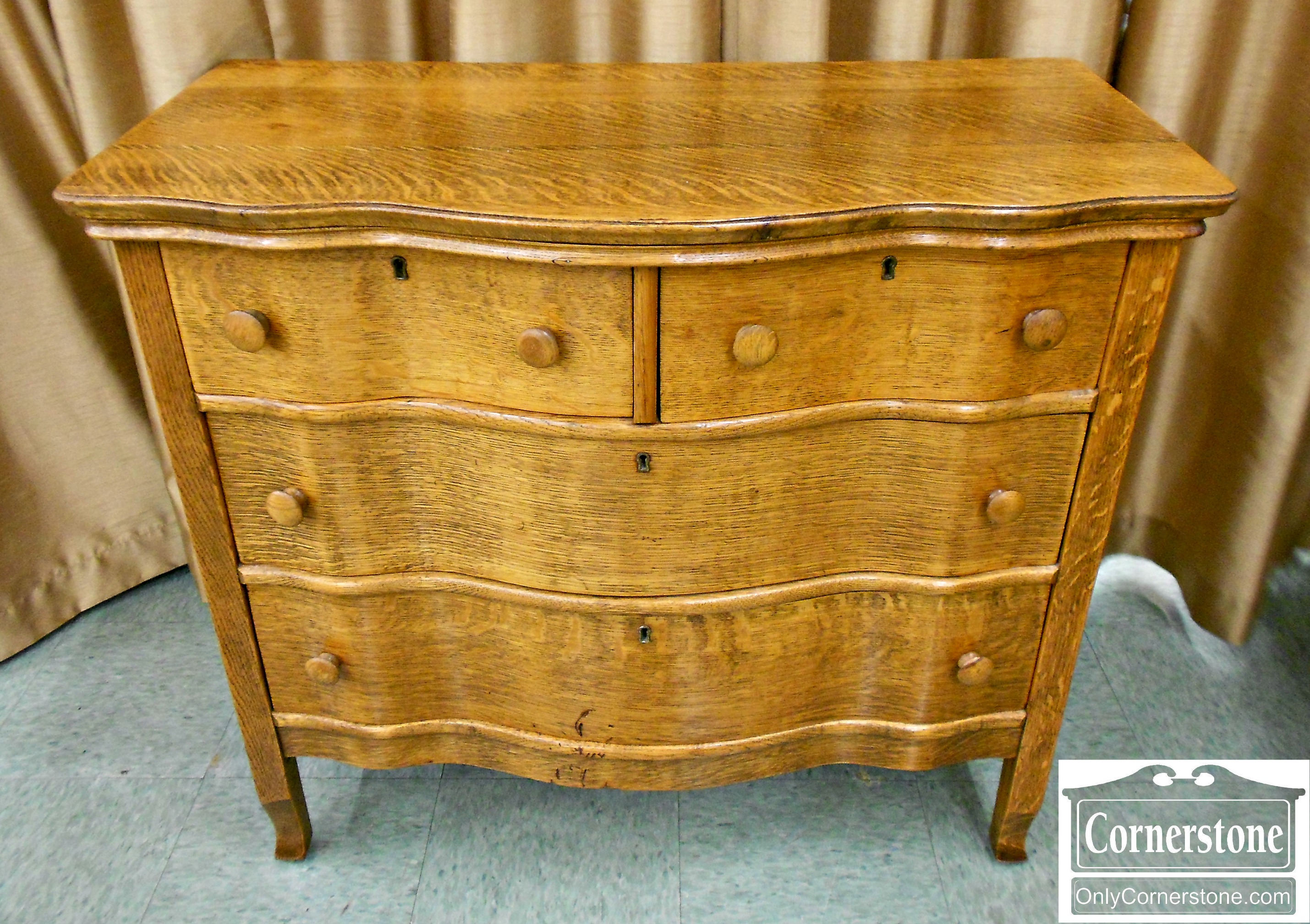 5960-81 Tiger Oak Washstand