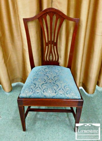 5960-950 - Potthast Solid Mahogany Inlaid Dining Chair