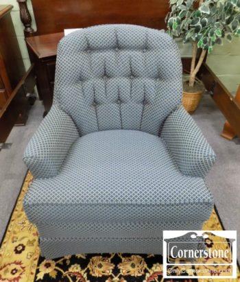 5965-1064 - Blue & Gold Club Chair
