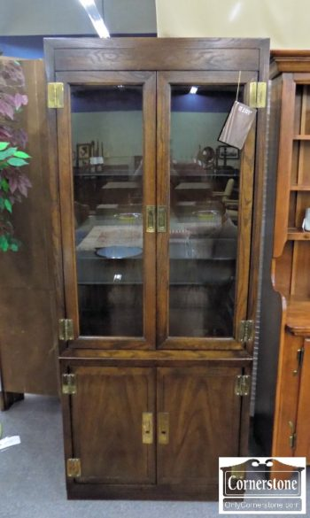 5965-1084 - Dixie Co. Campaign Style Curio Cabinet
