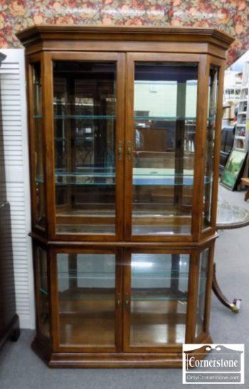 5965-1150 - Large Lightwood Curio Cabinet