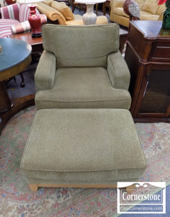 5965-1192 - Ethan Allen Chair and Ottoman
