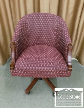 5965-1194 - Office Swivel Chair with Burgundy Fabric