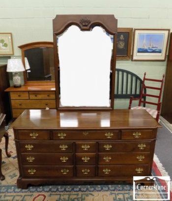 5965-1283 - JB Van Sciver Sol Cher Triple Dresser w Mirror