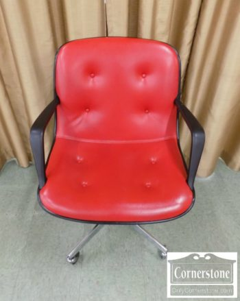 5965-1326 - MCM Red Chrome Office Chair