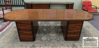 5965-1345 - Biltrite Wenge Wood Modern Exec Desk