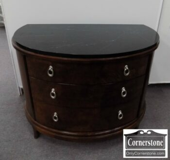 5965-1347 - Thomasville Marbletop Demilune Chest