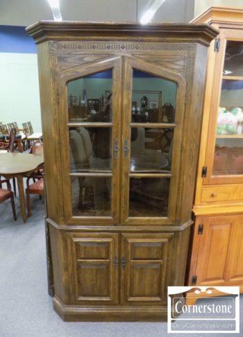 5965-1363 - Century Oak Rustic Corner Cabinet