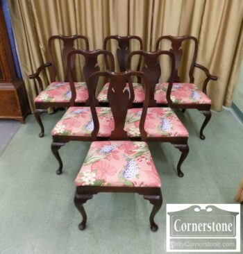 5965-1390 - 6 QA Sol Mah Dining Chairs
