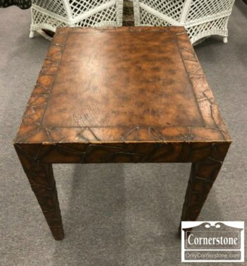 5965-1402 - Leather Wrapped End Table