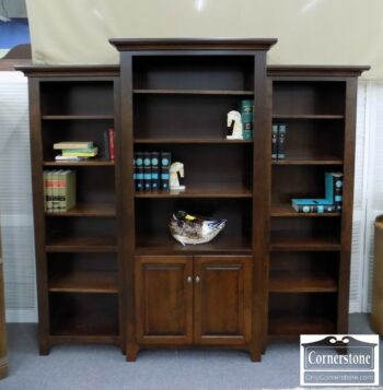 5965-1406 - Amish Made Sol W 3pc Bookcase