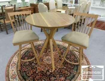 5965-1437 - Round Counter Ht Table and 2 Chairs