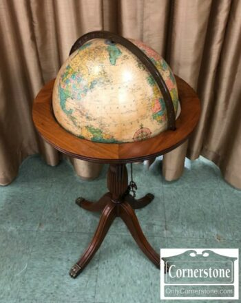 5965-1453 - Globe on Stand with Interior Light