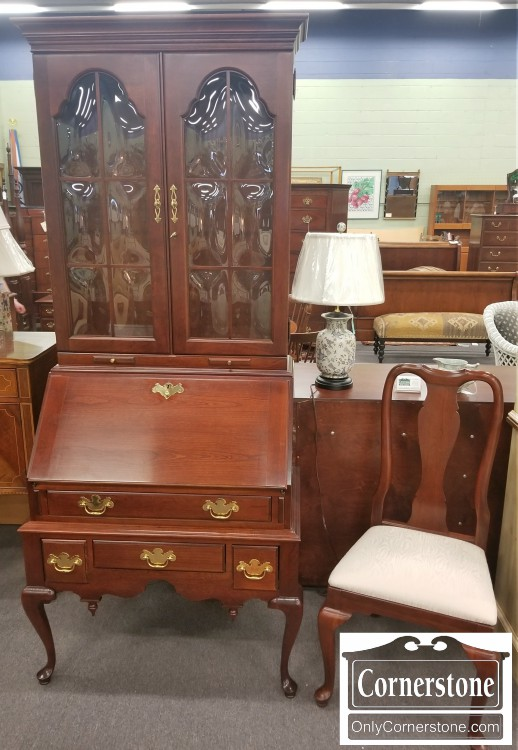Jasper Cherry Secretary Desk With Chair Sold