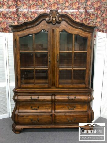 5965-1491 - Ethan Allen Cherry Display CabinetHutch