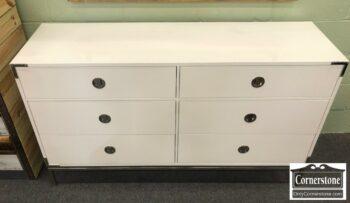 5965-1539 - West Elm Malone Campaign White Modern Dresser
