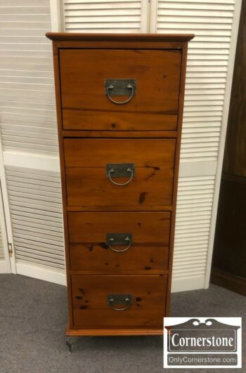 5965-1540 - Tall Pine Narrow 4 Drawer File Cabinet